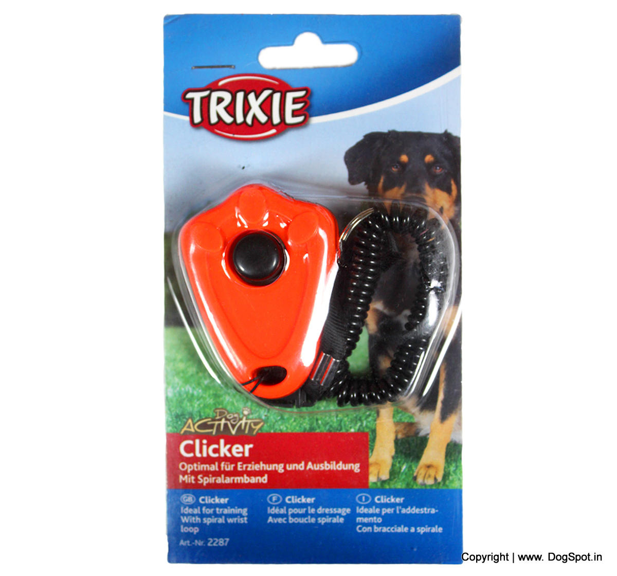 Clicker With Spiral Wrist Loop - Assorted
