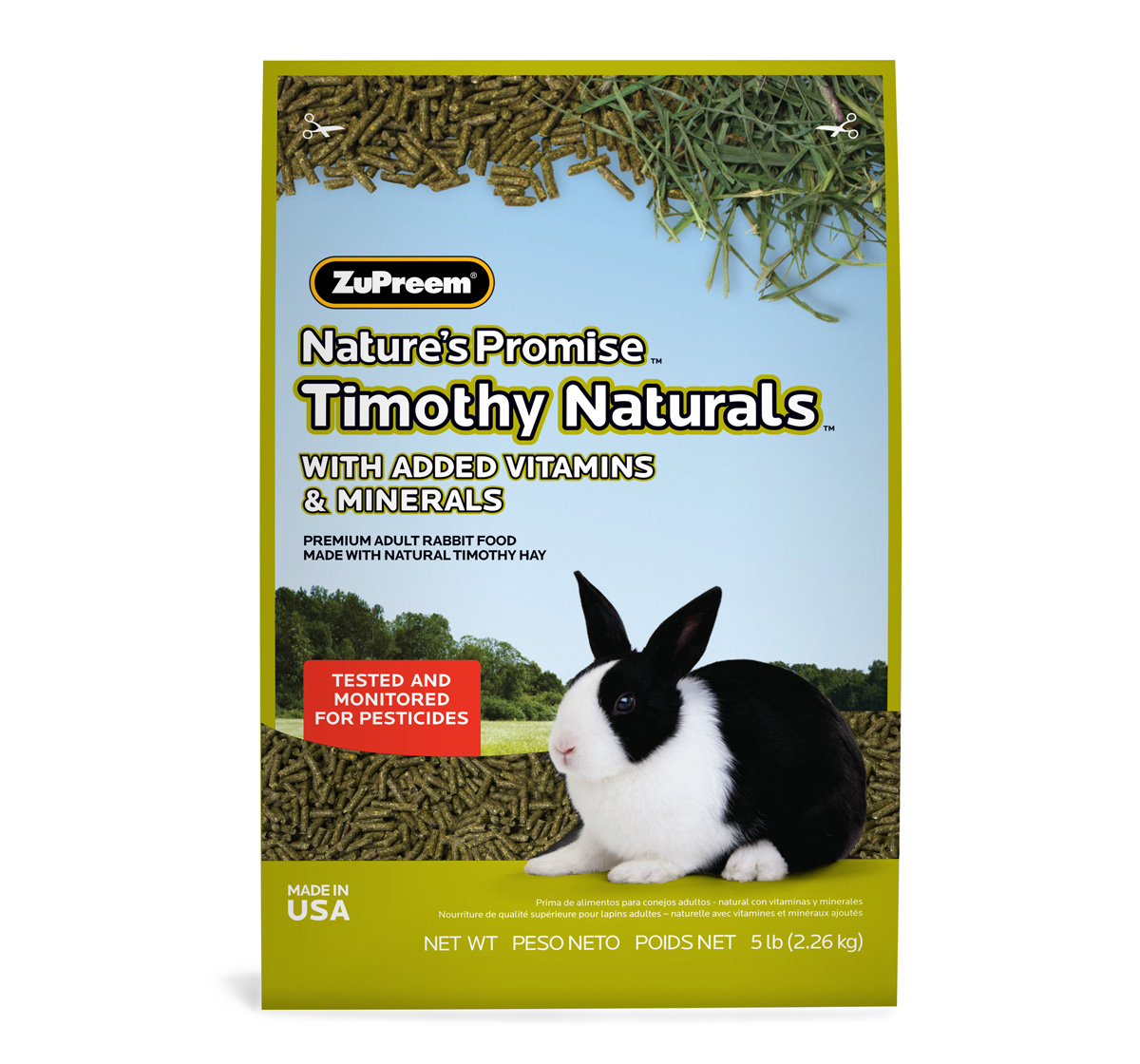 ZuPreem Natures Promise Trimonthy Naturals Rabbit Food - 2.26 Kg