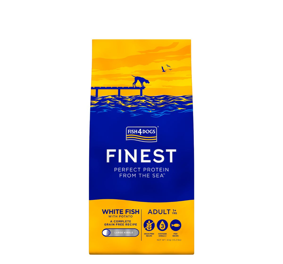 Fish4Dogs Finest Ocean White Fish Adult Dog Food -  6 Kg