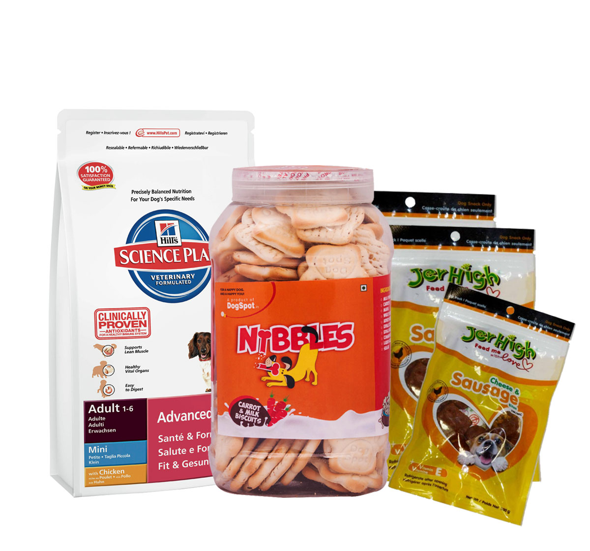 Hills Science Plan Adult Mini Breed Chicken - 1 Kg With Treats & Biscuit