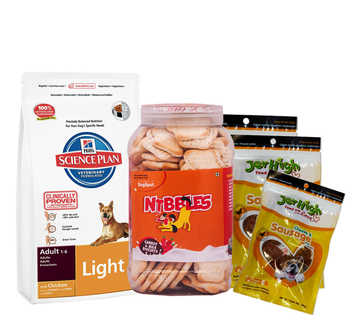 Hills Science Plan Adult Light Chicken - 3 Kg With Treats & Biscuit