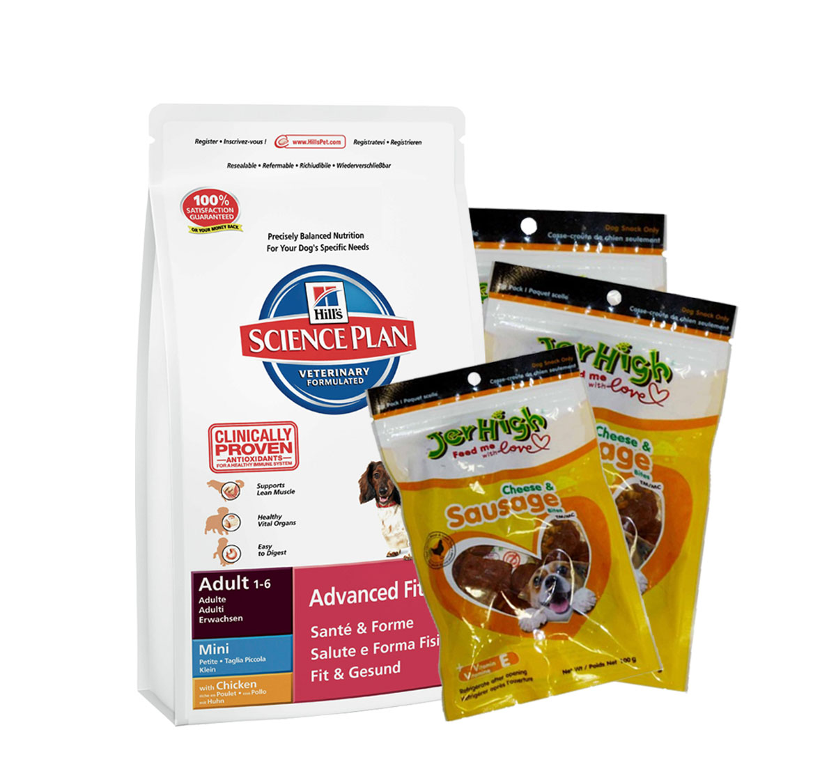 Hills Science Plan Adult Mini Breed Chicken - 2.5 Kg with Treats