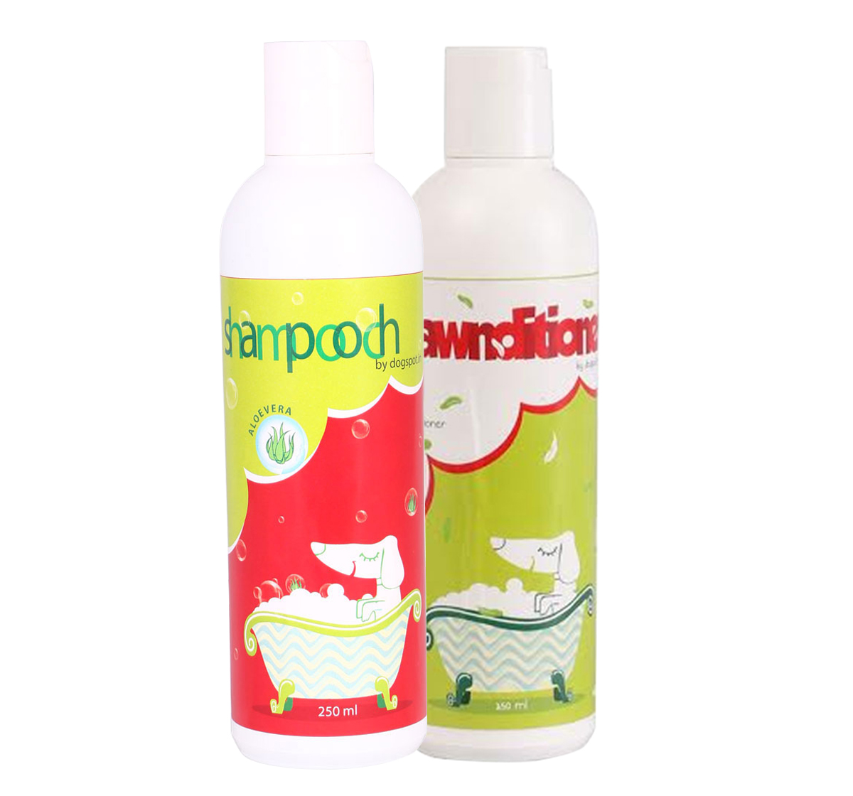 Shampooch Aloevera Shampoo & Pawnditioner Conditioner For Dogs - (250+250) ml