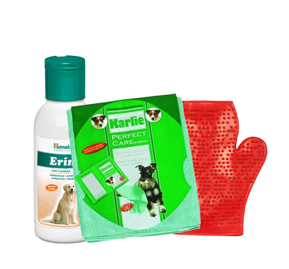 Himalaya Erina Coat Cleanser For Dog - 450 ml With Glove & Towel