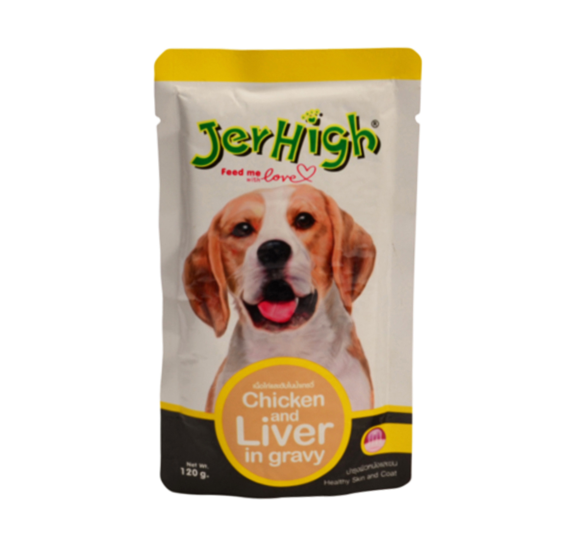Jerhigh Chicken And Liver In Gravy Pouch  - 120 gm