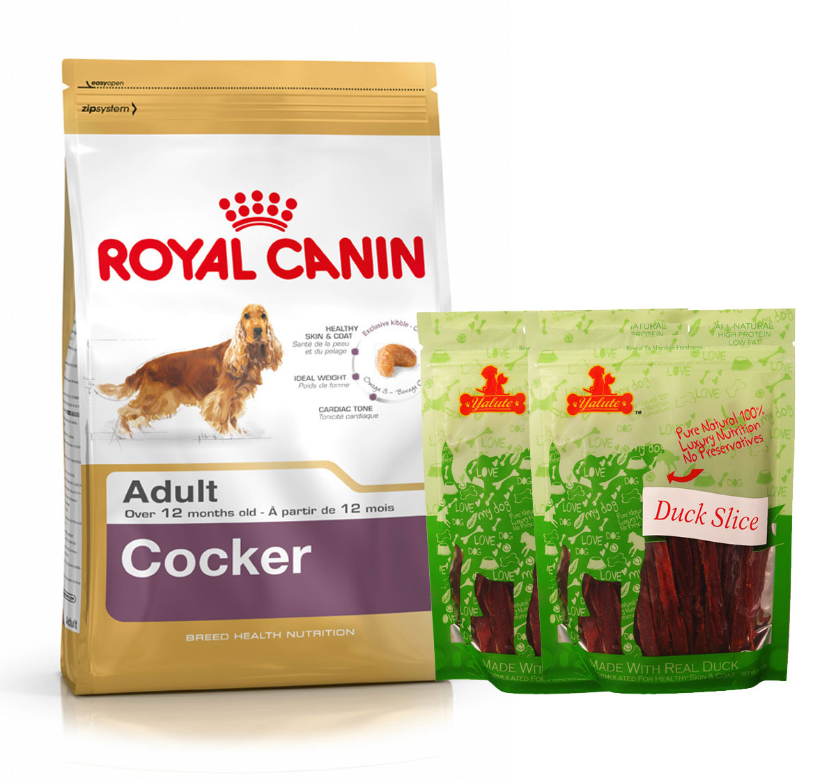 Royal Canin Cocker Adult - 3 Kg  With Duck Slices
