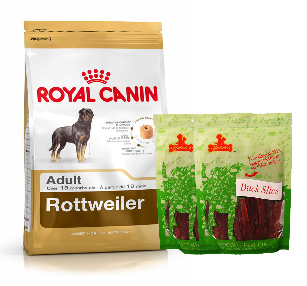 Royal Canin Rottweiler Adult - 3 Kg  With Duck Slices