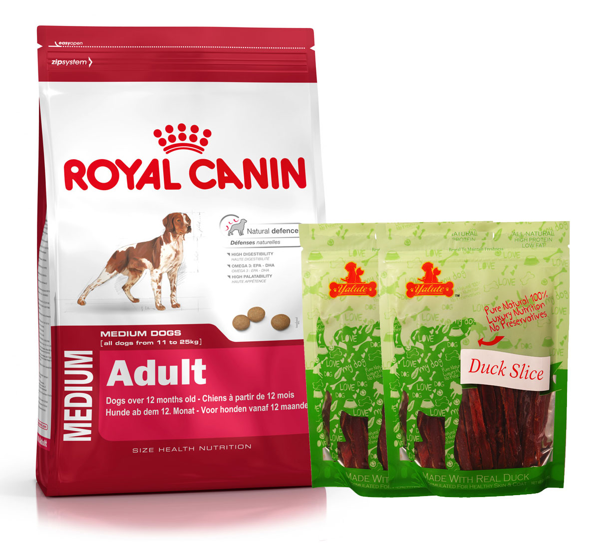 Royal Canin Medium Adult - 4 Kg  With Duck Slices