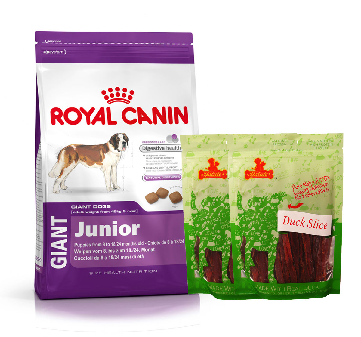 Royal Canin Giant Junior - 4 Kg  With Duck Slices