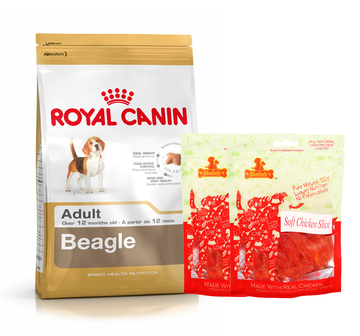 Royal Canin Beagle Adult - 3 Kg  With Chicken Slices