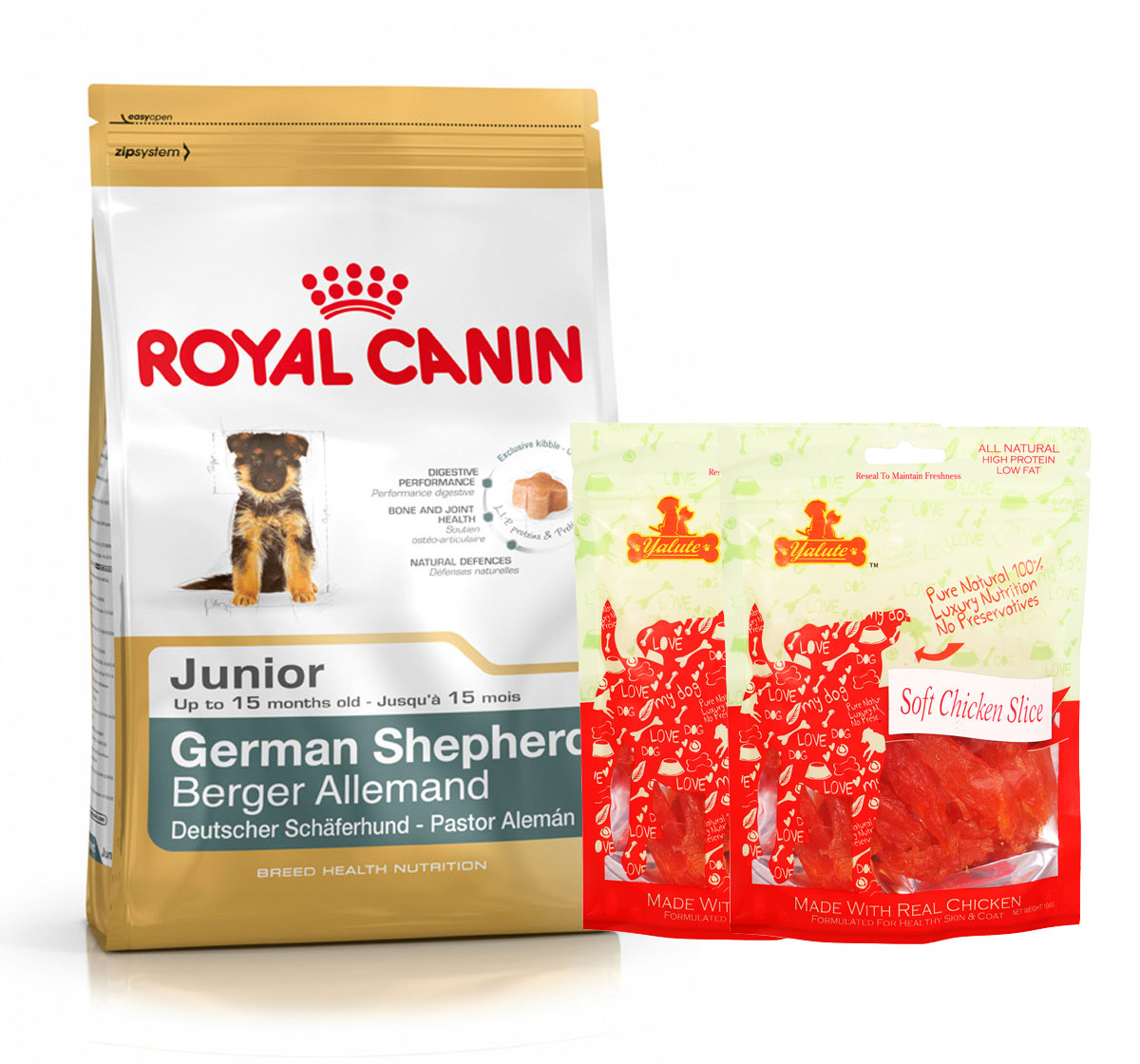 Royal Canin German Shepherd Junior - 3 Kg  With Chicken Slices