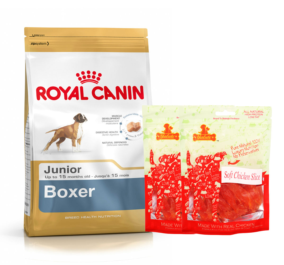 Royal Canin Boxer Junior - 3 Kg  With Chicken Slices