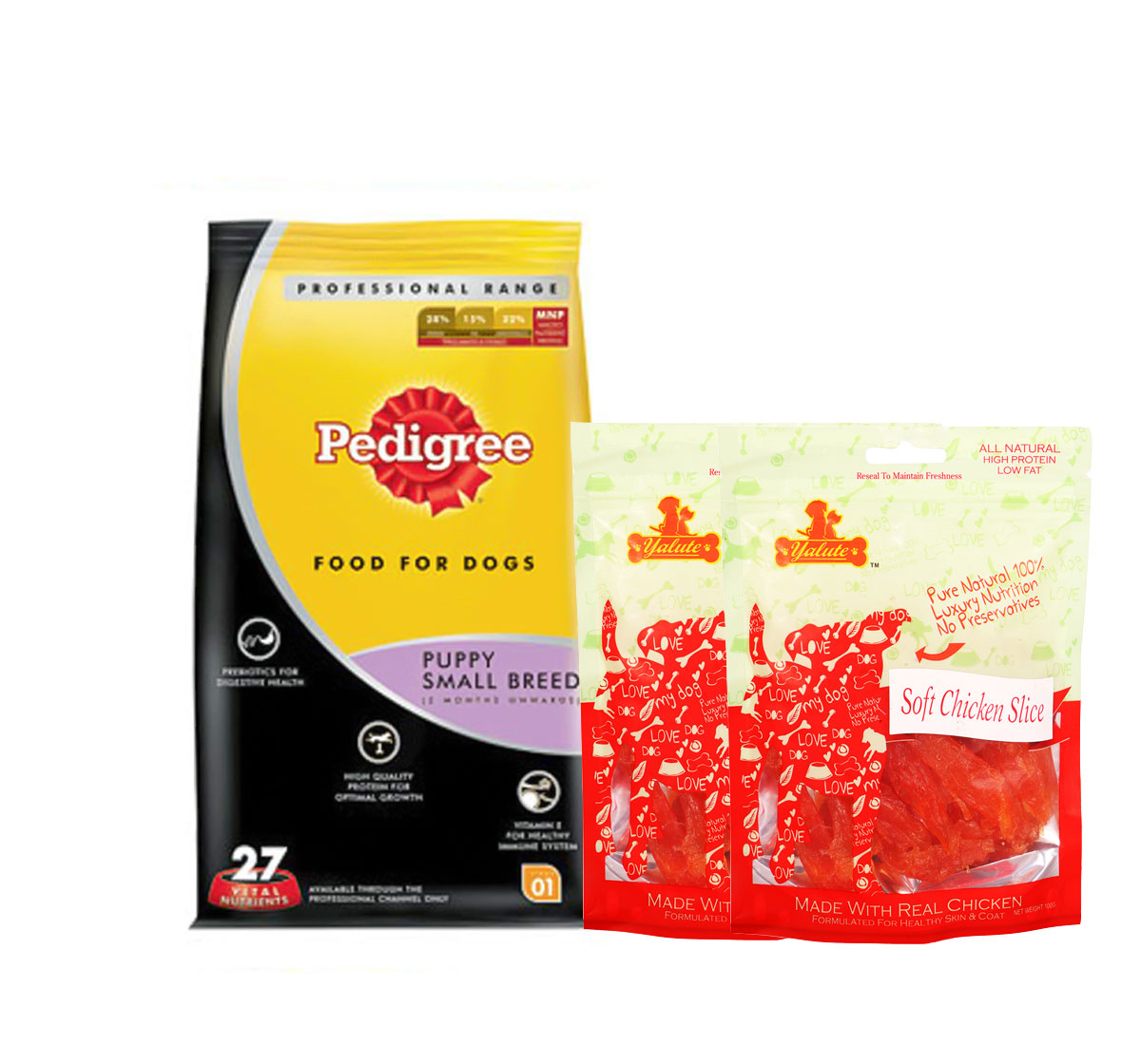Pedigree Dog Food Puppy Small Breed Professional - 3 Kg  With Chicken Slices