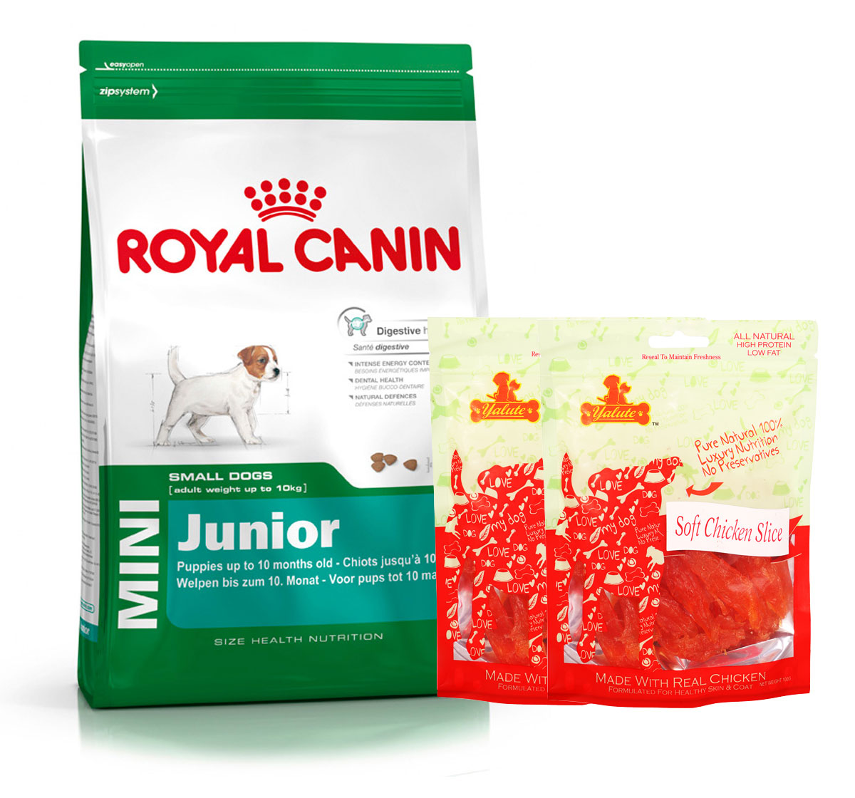 Royal Canin Mini Junior - 4 Kg  With Chicken Slices