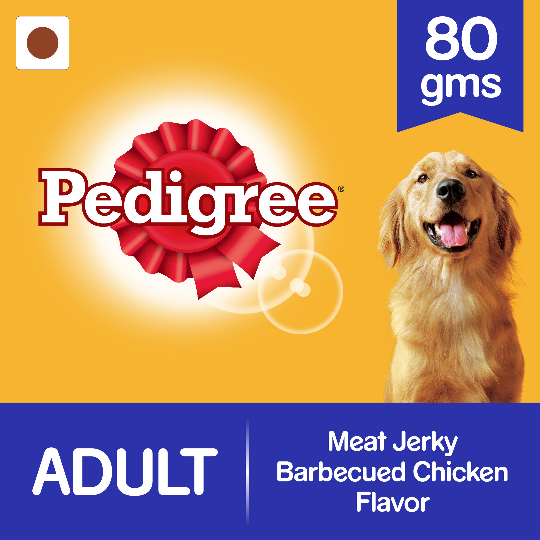 Pedigree Meat Jerky Barbecued Chicken Flavor - 80 gm (Pack of 12)