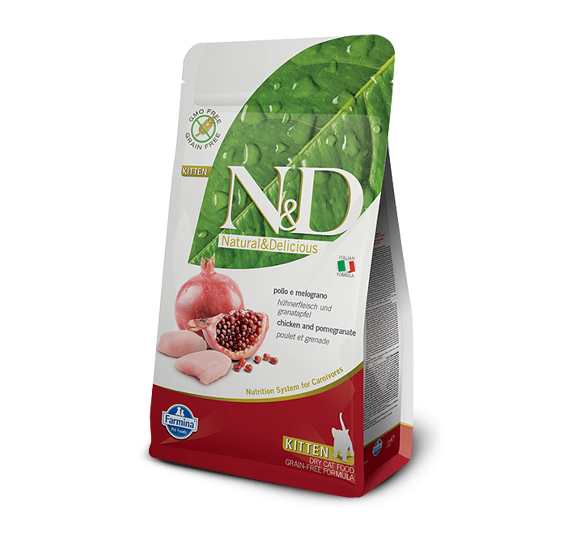 Farmina N&D Dry Cat Food Grain Free Chicken & Pomegranate Kitten - 5 Kg