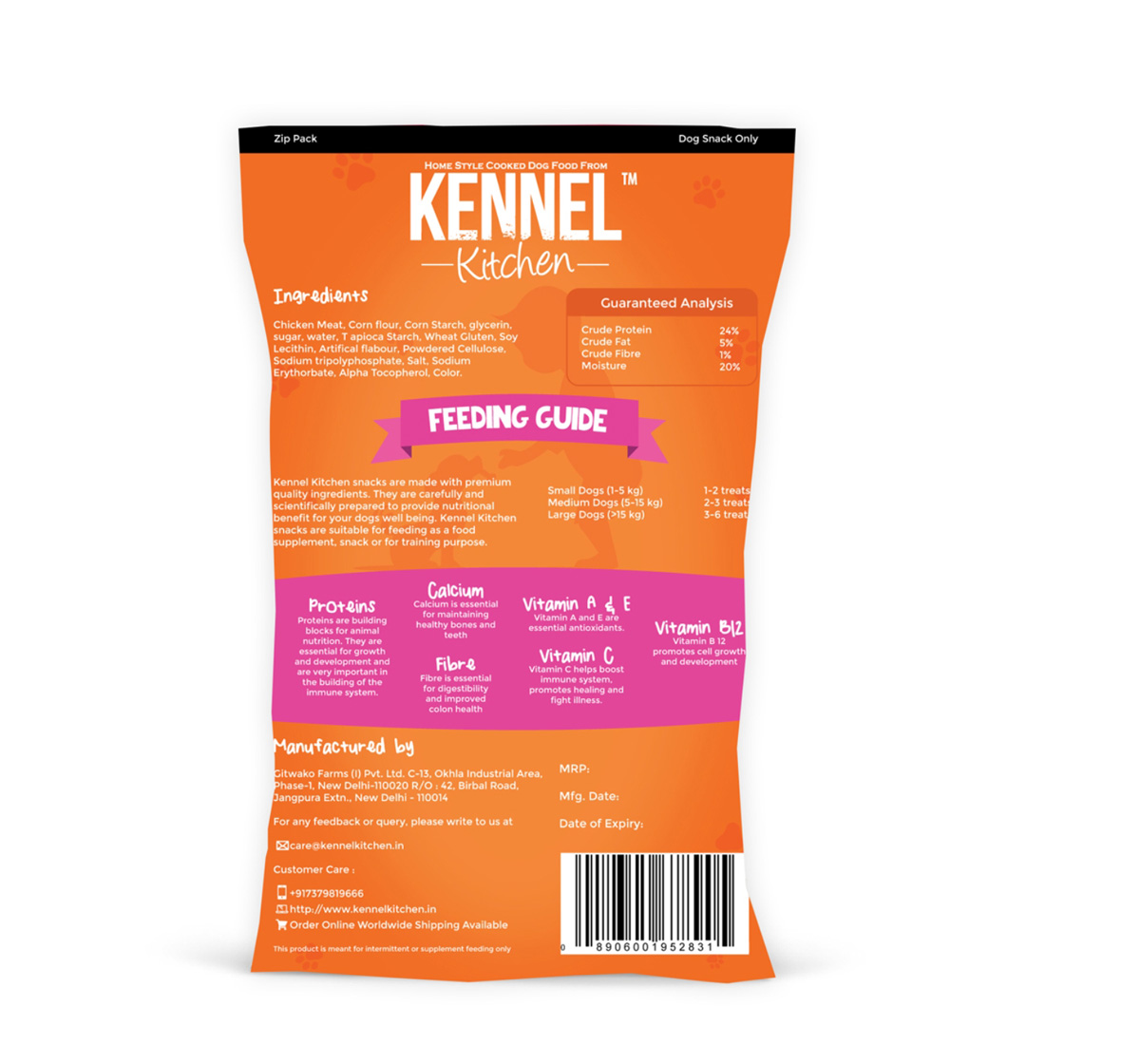 Kennel Kitchen Meat Sticks - 100 gm (Pack Of 4)