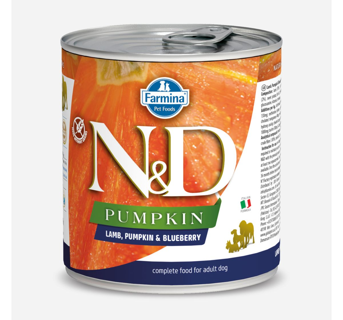 Farmina N&D Wet Dog Food Pumpkin Lamb & Blueberry Adult - 285 gm (Pack Of 6)
