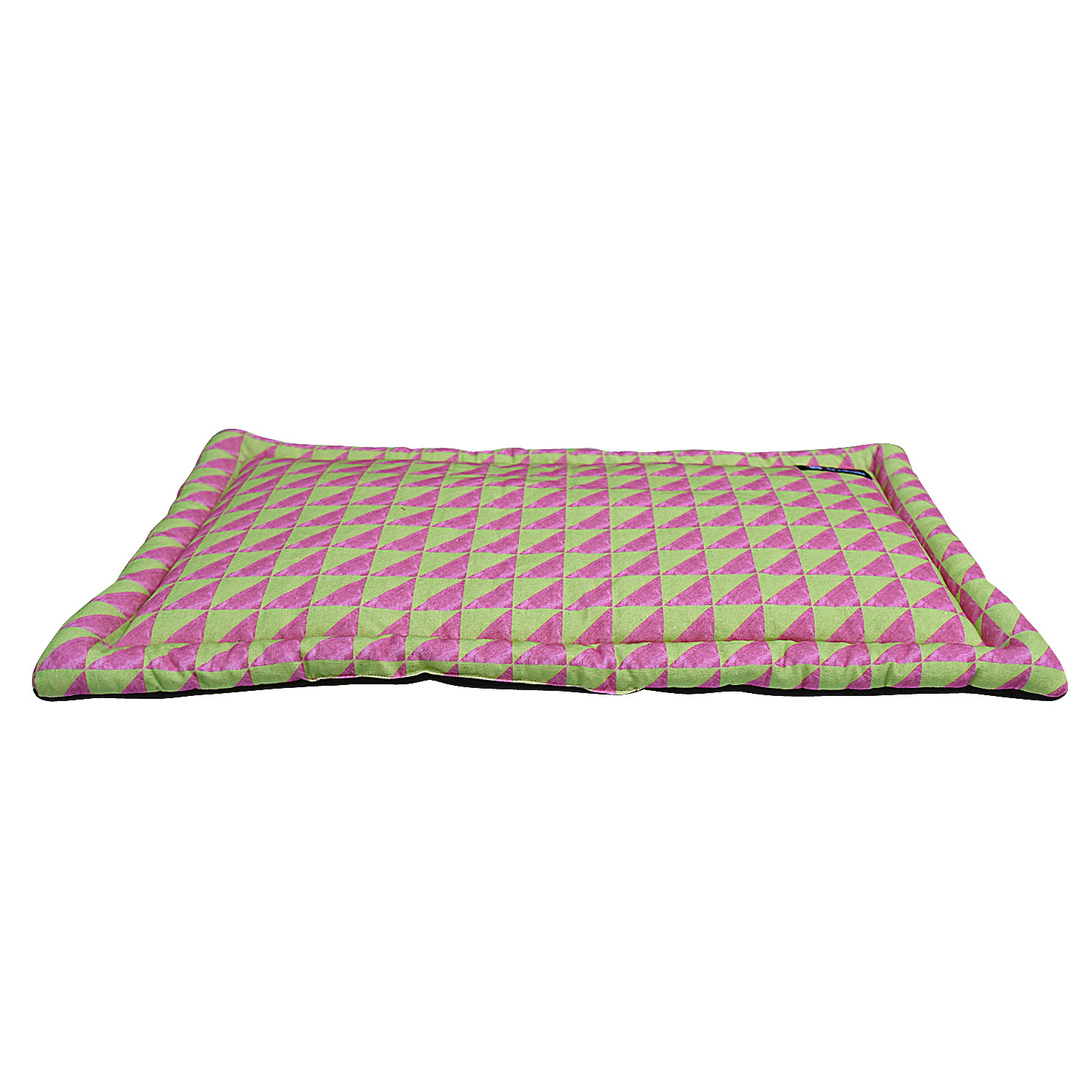 Mutt Of Course Water Color Pink & Green Mat - Xlarge