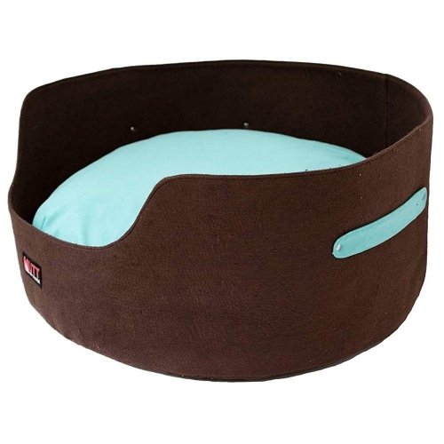 Mutt Of Course Basket Bed For Dogs -Brown - Large