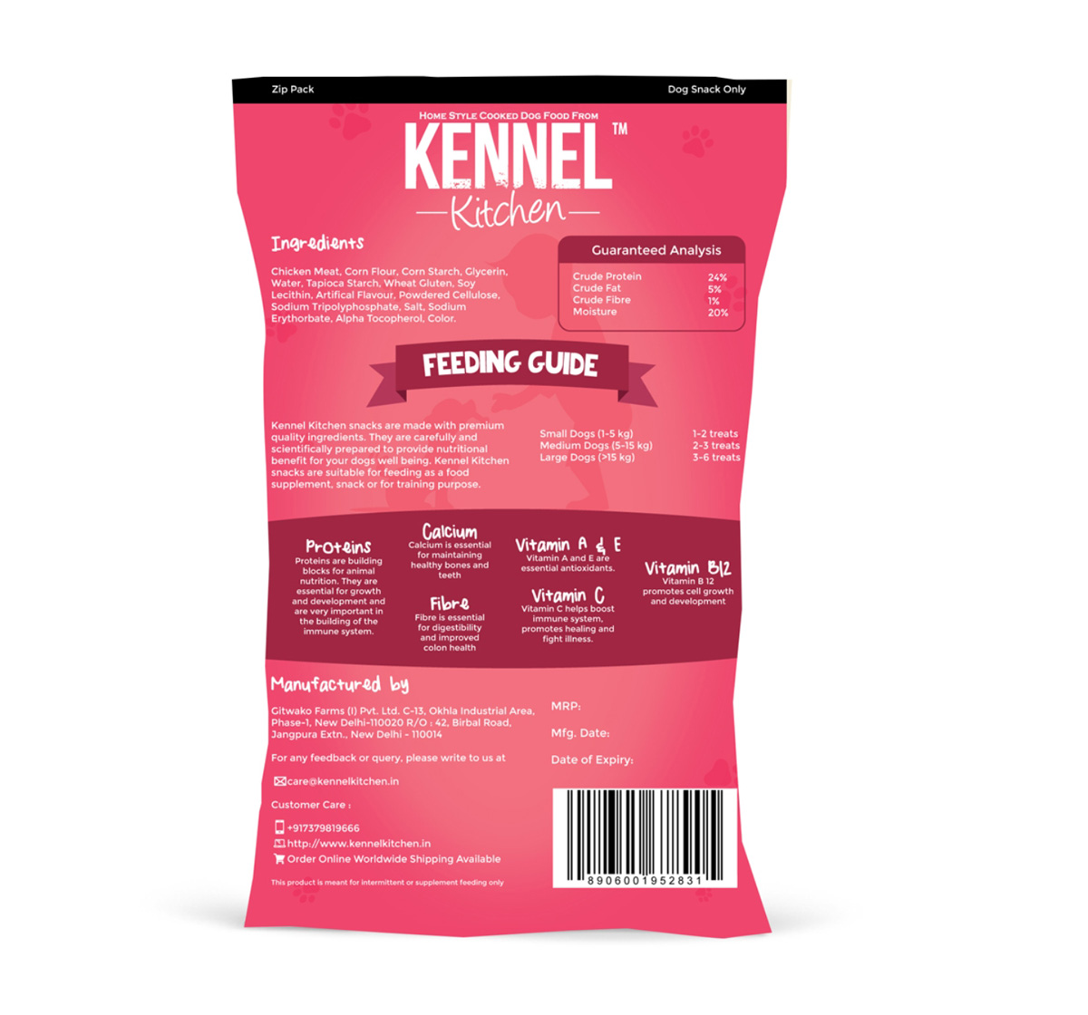 Kennel Kitchen Salami - 100 gm (Pack Of 4)