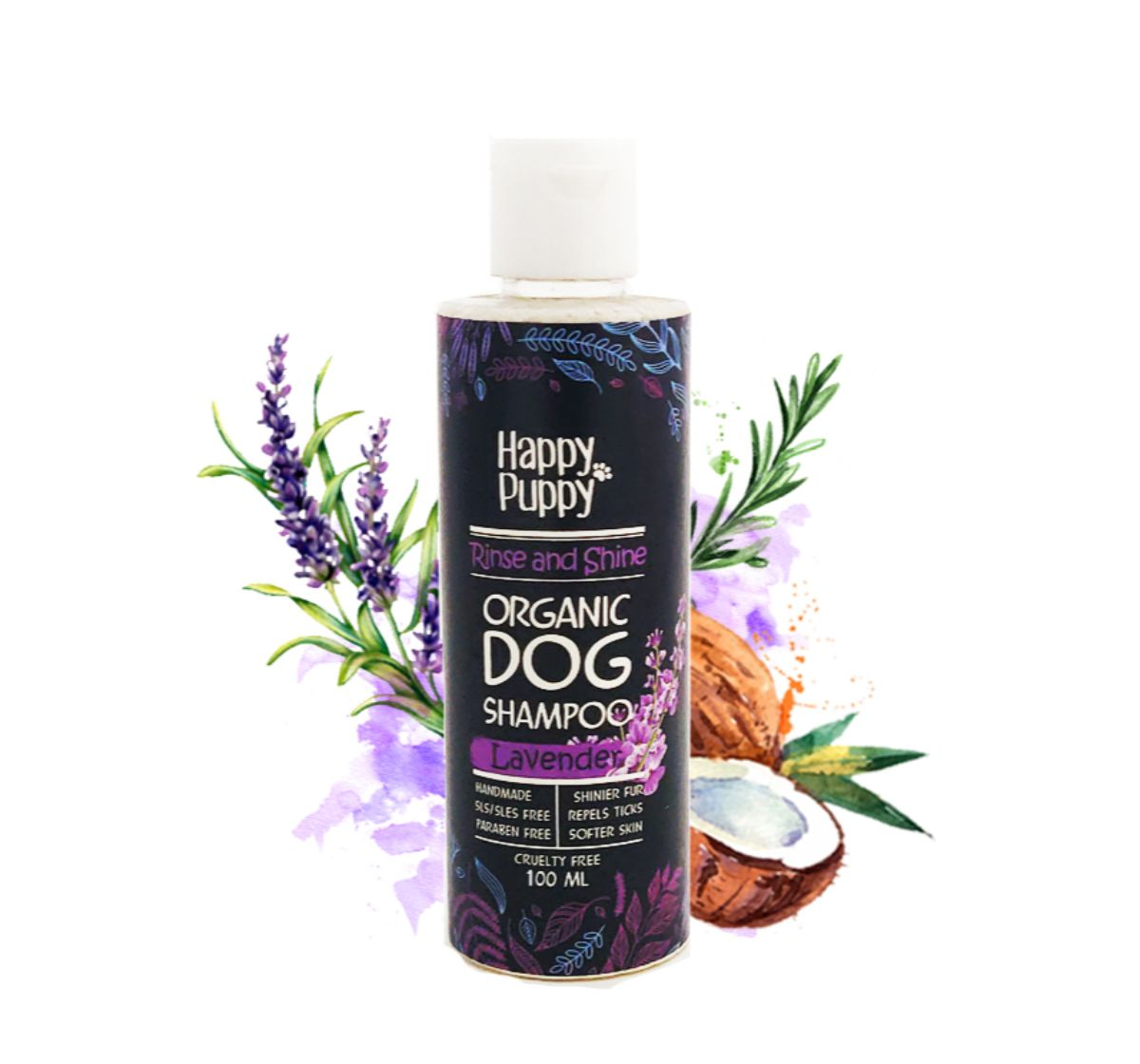 Happy Puppy Organics Rinse and Shine Shampoo- 100ml