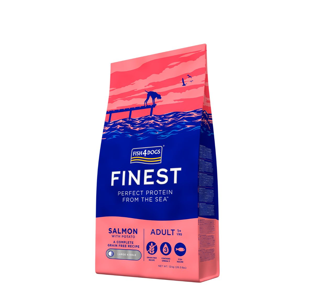 Fish4Dogs Finest Salmon Adult Dog Food - 12 Kg