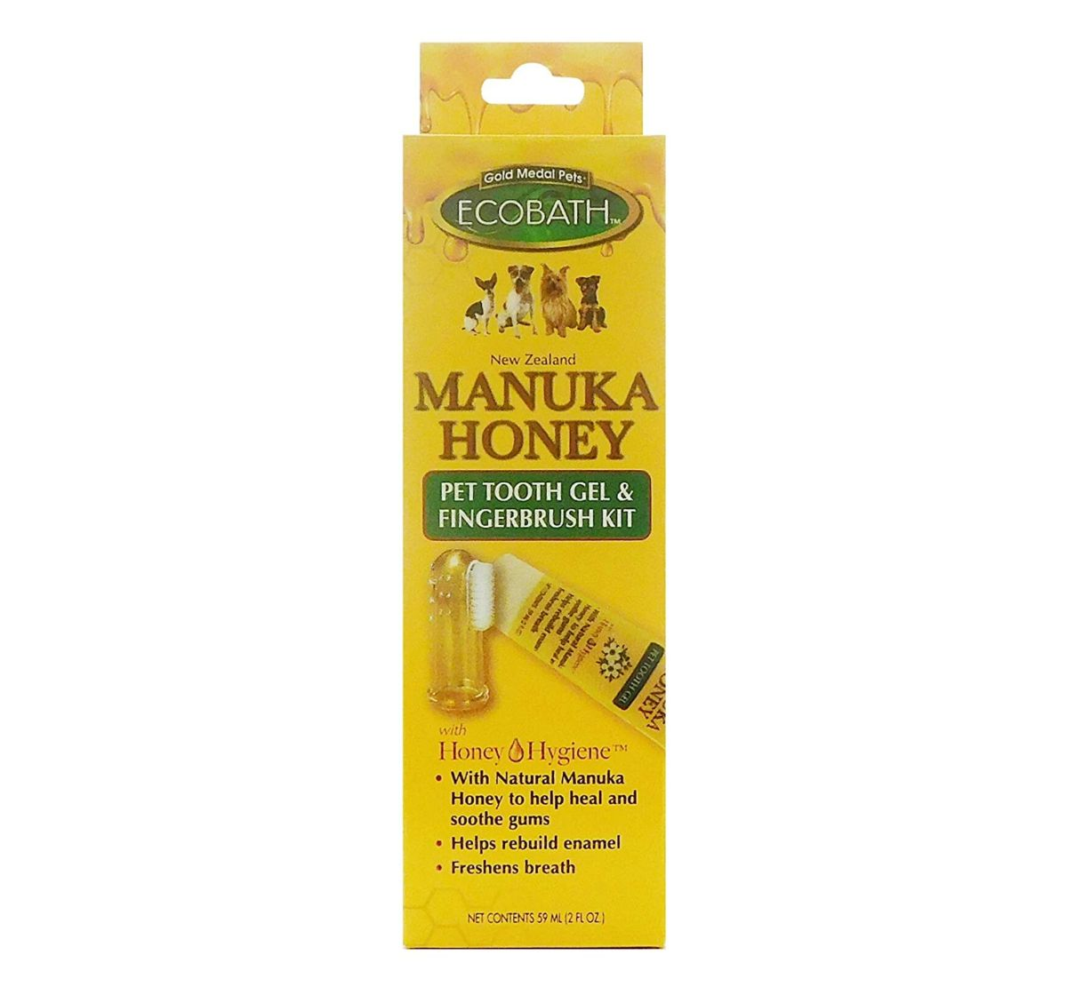 Gold Medal Ecobath Dog Tooth Gel with Manuka Honey - 59 ml