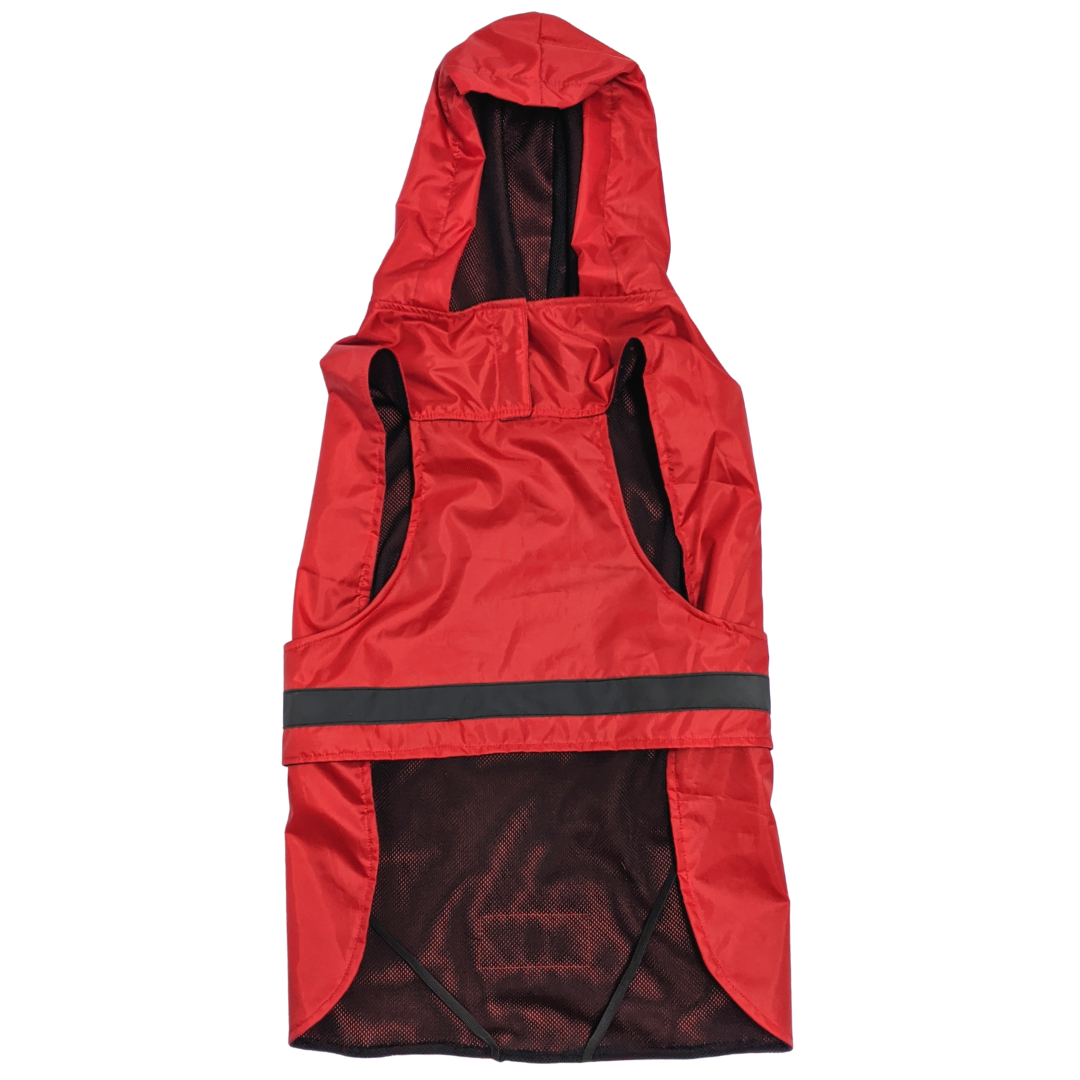 Mutt Of Course Dog Raincoat Red - 3XLarge