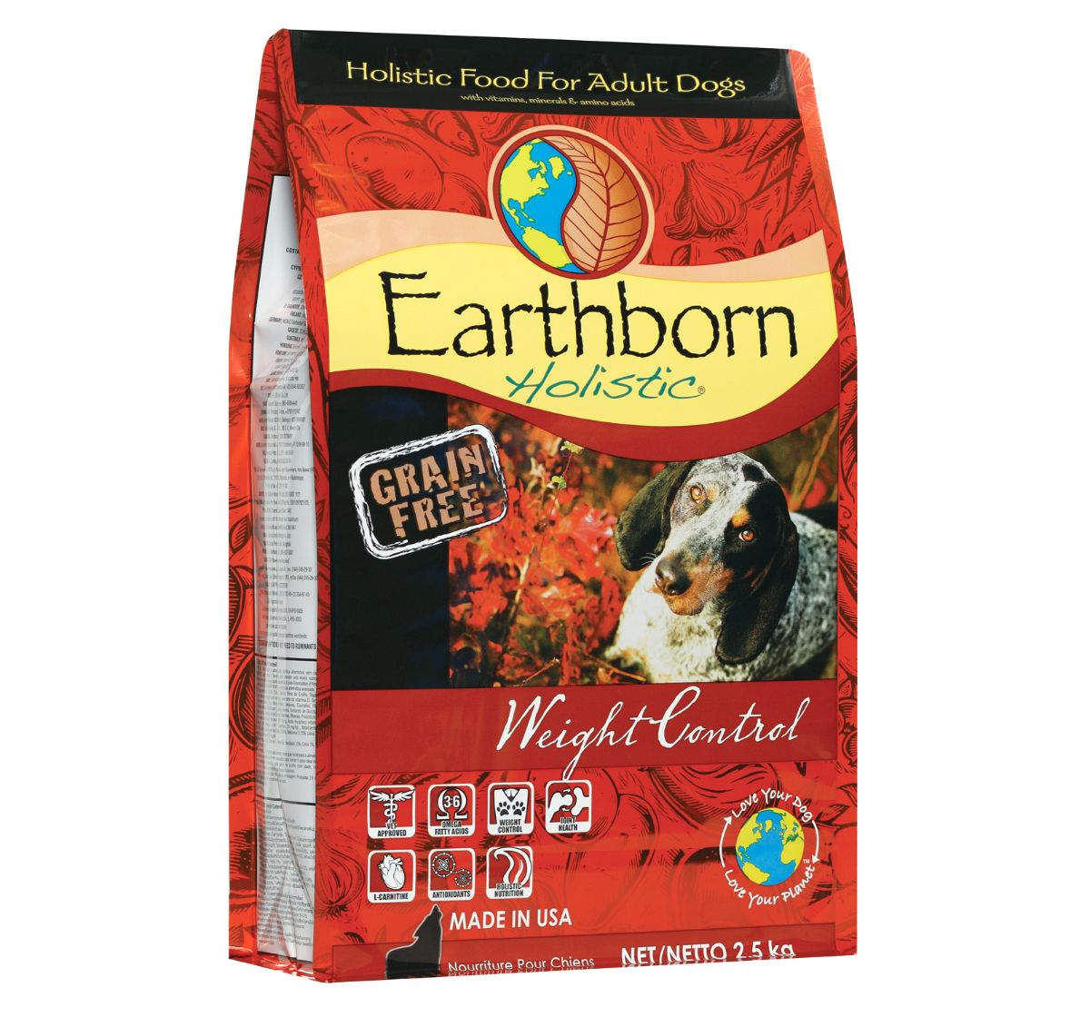 Earthborn Holistic Weight Control Grain-Free Dry Dog Food - 2.5 kg