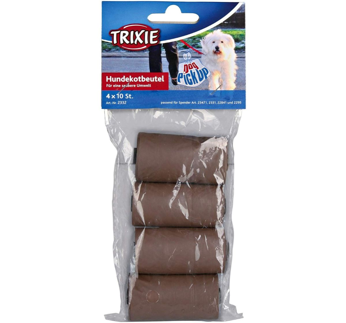 Trixie Dog Dirt Bags Biodegradable Brown - 40 Bags