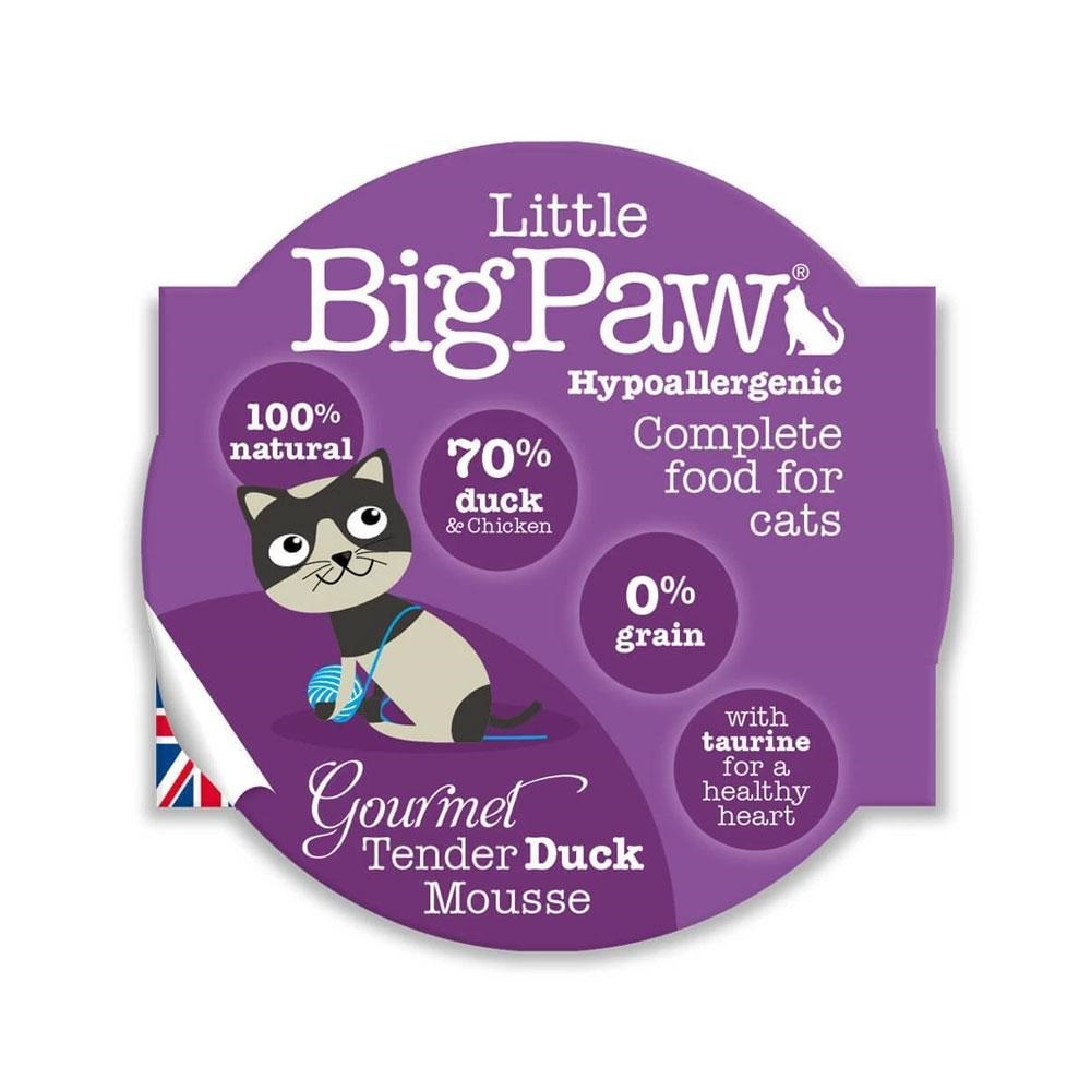 Little Big Paw Gourmet Tender Duck Mousse Cat Food- 85 gm (Pack of 8)