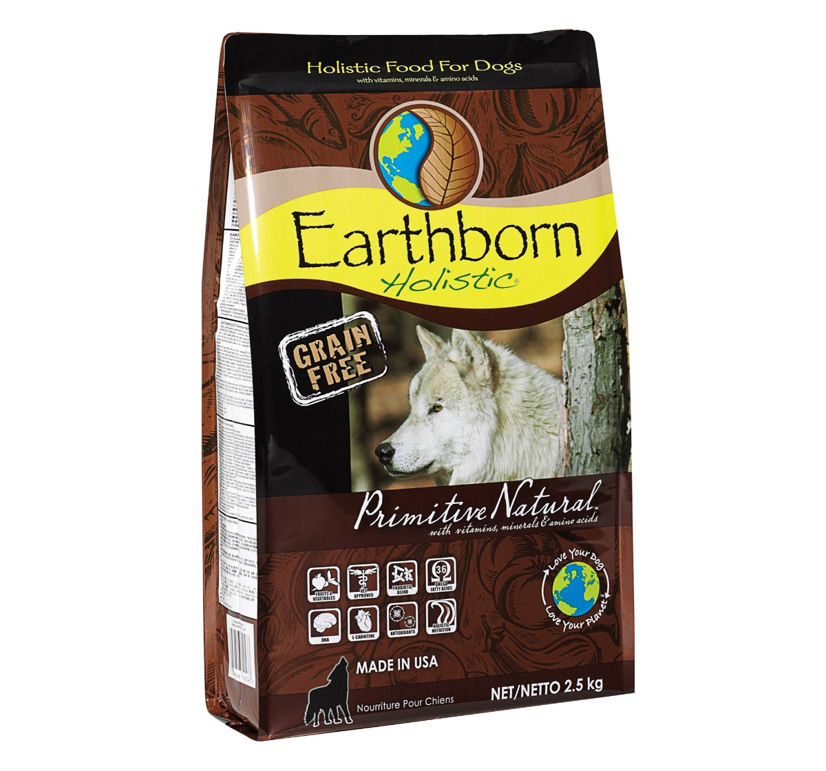 Earthborn Holistic Primitive Grain-Free Dry Dog Food - 2.5 kg