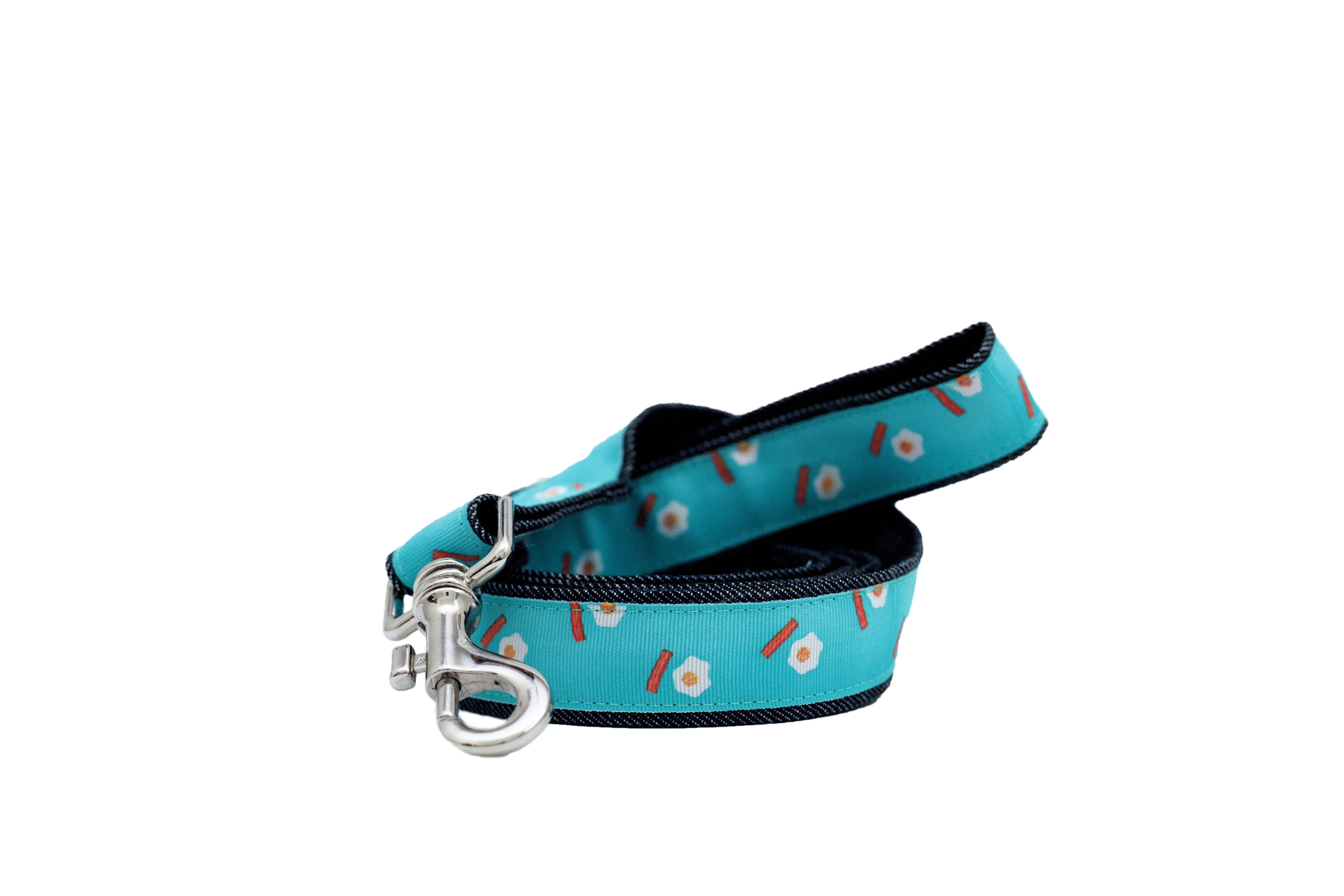 Mutt of Course Eggs & Bacon Leash for Dogs- Medium