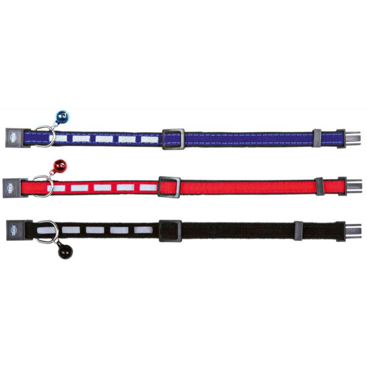 Trixie Safer Life Cat Reflective Collar With Bell - Assorted
