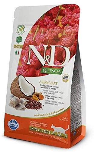 Farmina N&D Dry Cat Food Grain Free Quinoa Skin & Coat Quail Adult - 1.5 Kg