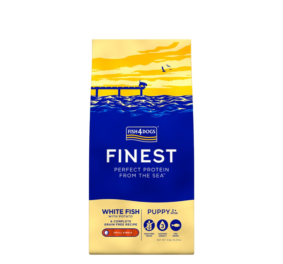 Fish4Dogs Finest Ocean White Fish Puppy Food - 6 Kg