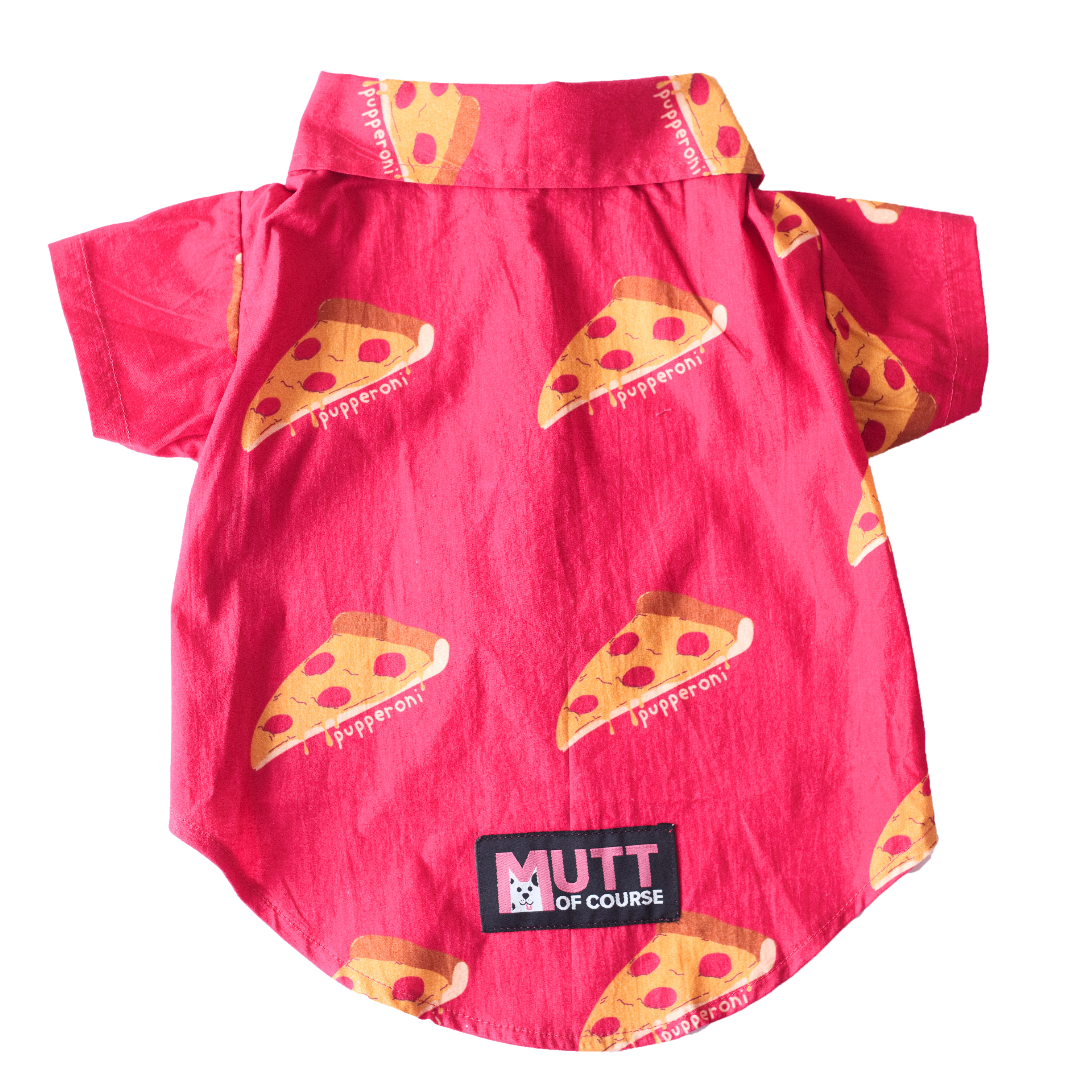 Mutt of Course Pupperoni Pizza Shirt for Dogs- 4XL