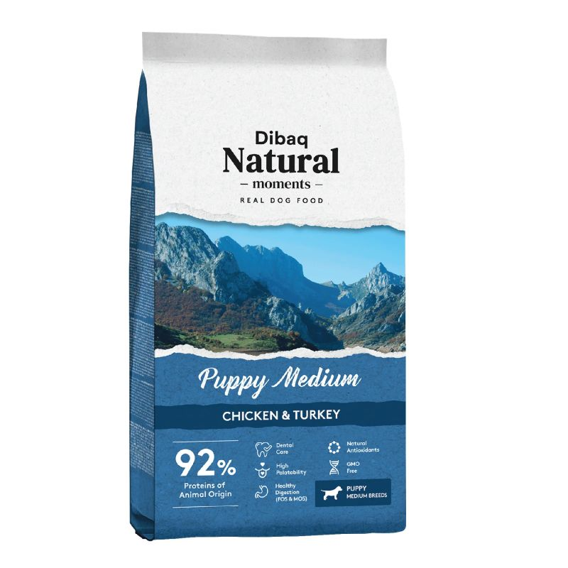 Dibaq Natural Moments Medium Puppy Food - 3 Kg