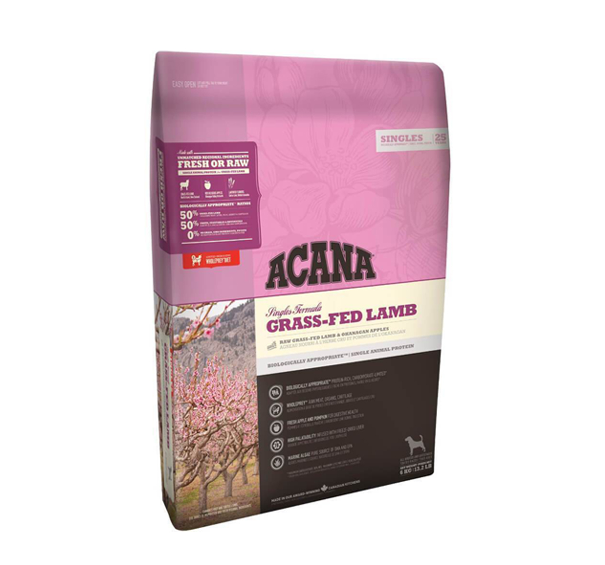 Acana Grass-Fed Lamb Dog Food - 6 Kg