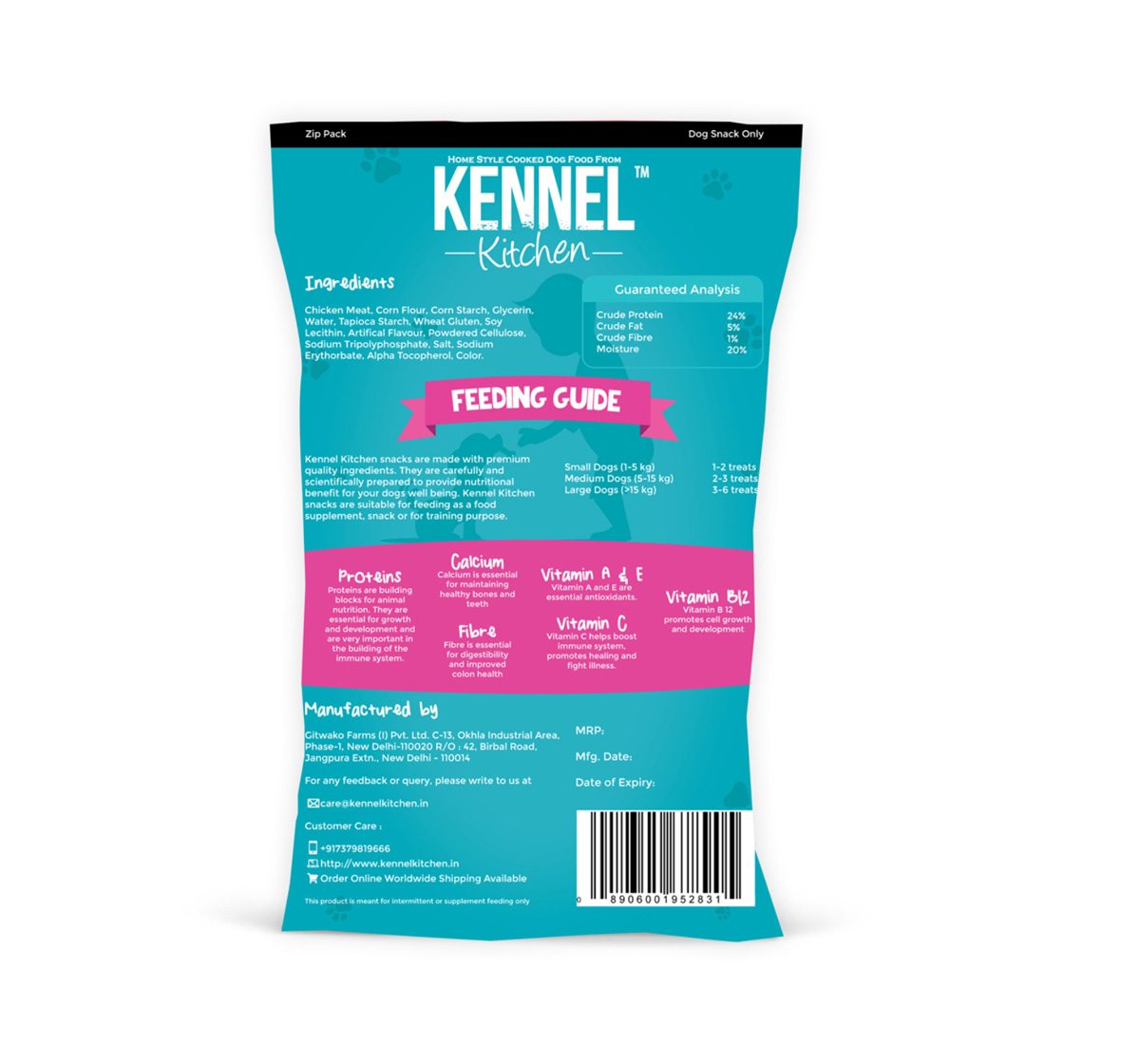 Kennel Kitchen Daily Dental Treat - 100 gm (Pack Of 4)