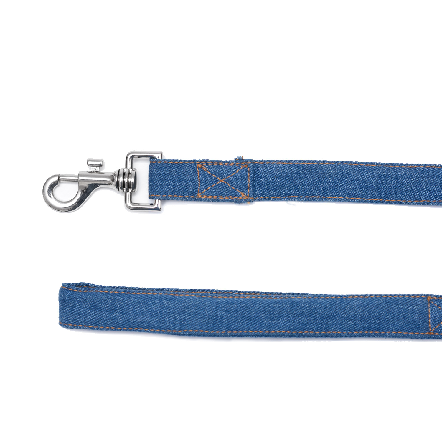 Mutt Of Course Stud Muffin Dark Denim Leash - Large