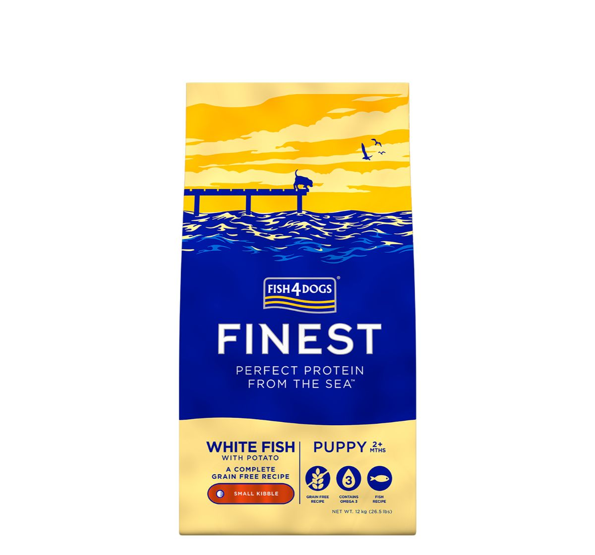 Fish4Dogs Finest Ocean White Fish Puppy Food - 12 Kg