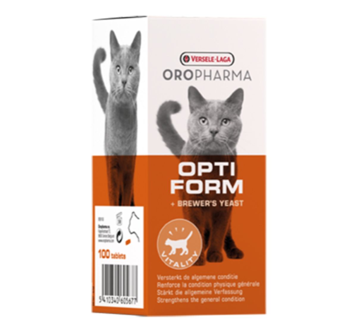 Versele Laga Oropharma Opti Form Cat Supplement - 100 Tablet
