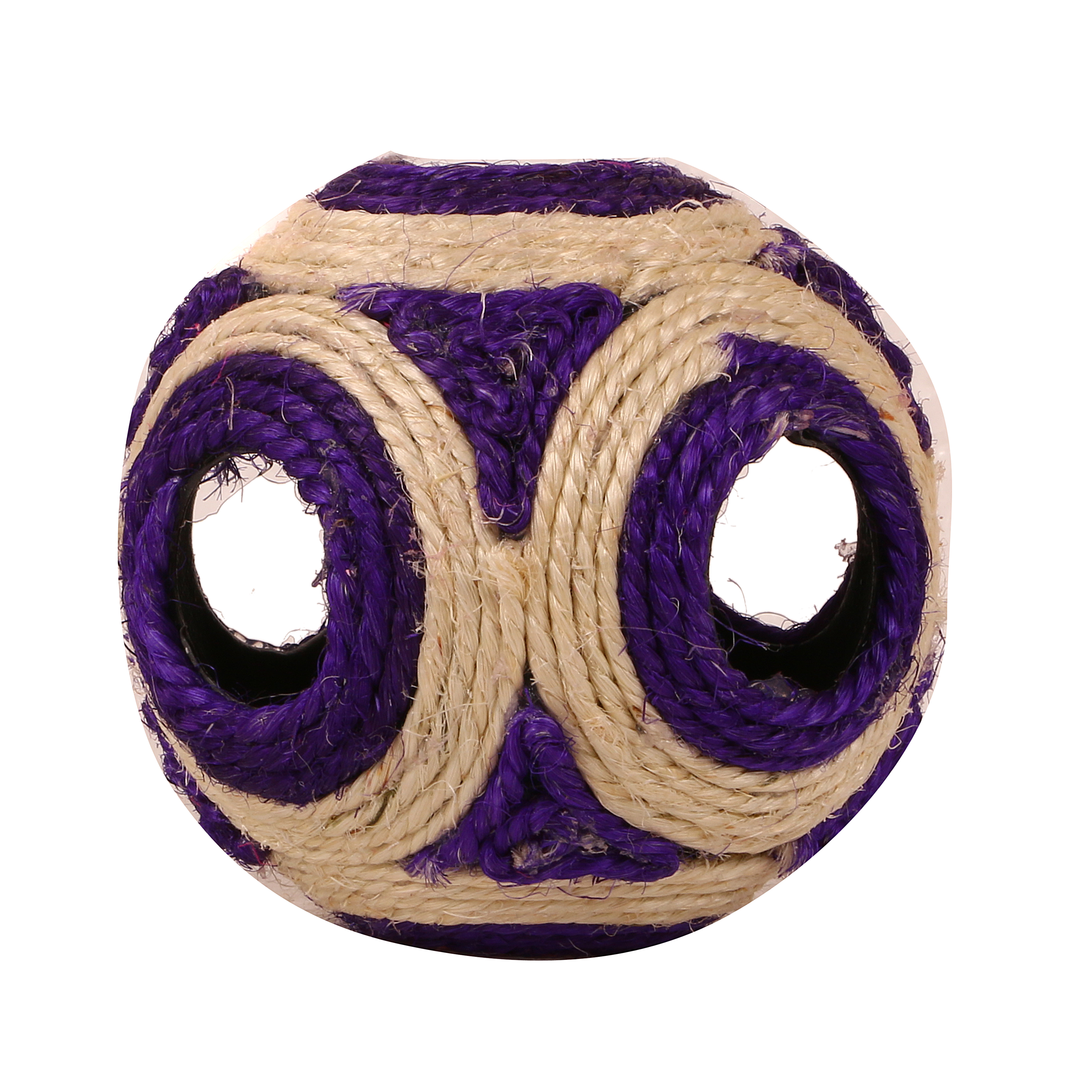 CatSpot Sisal Feathered Cat Rattle Ball - 4.5 Inches