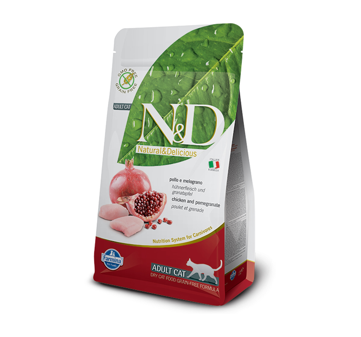 Farmina N&D Dry Cat Food Grain Free Chicken & Pomegranate Adult Cat - 300 gm