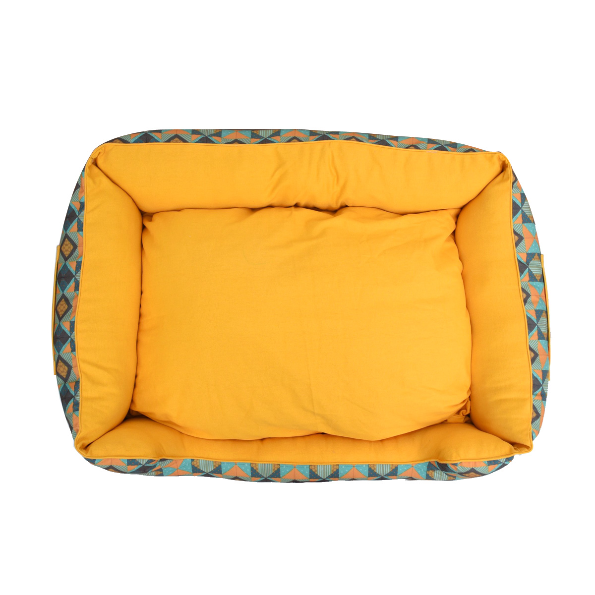 Mutt Of Course Lounger Bed For Dogs - Trickey Turkey - Medium