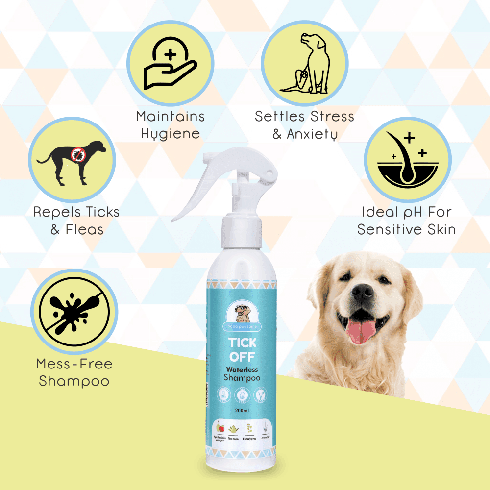 Papa Pawsome Tick Off Waterless Shampoo - 200 ml