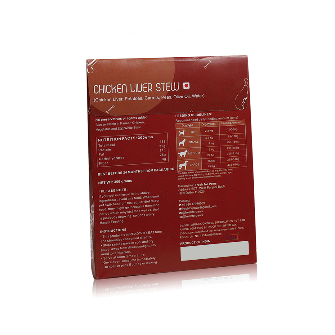 Fresh For Paws Chicken Liver - 100 gm
