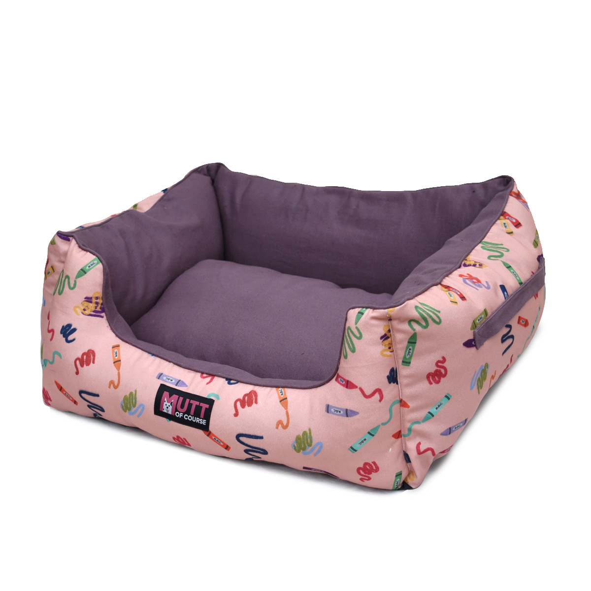 Mutt Of Course Lounger Bed For Dogs - Woofy Colours - Medium